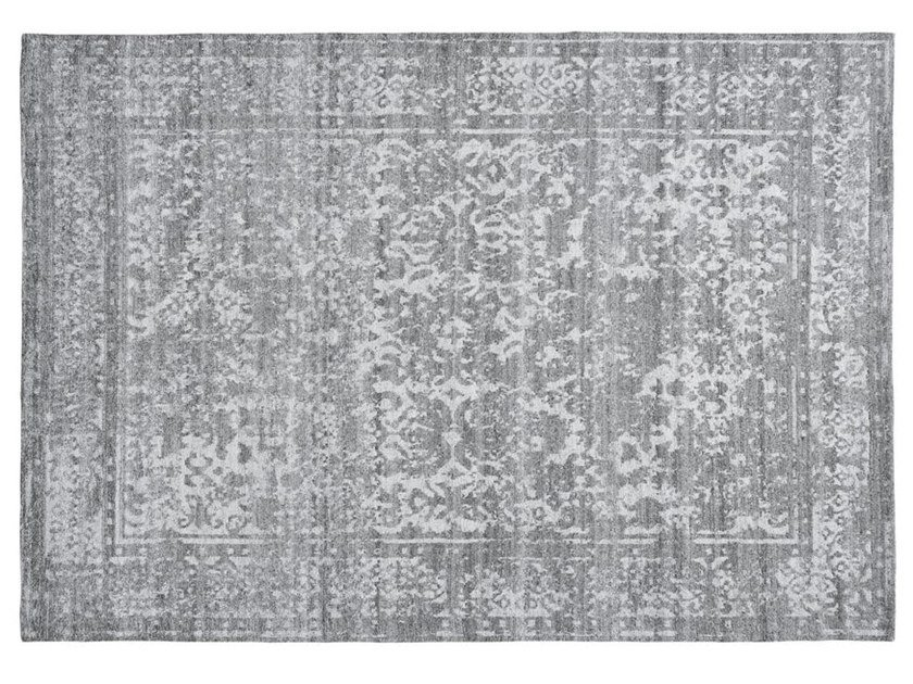 Patterned rectangular viscose rug HERITAGE by Toulemonde Bochart