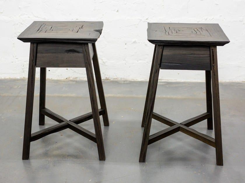 Square bog oak side table HERMAN by EDWOOD