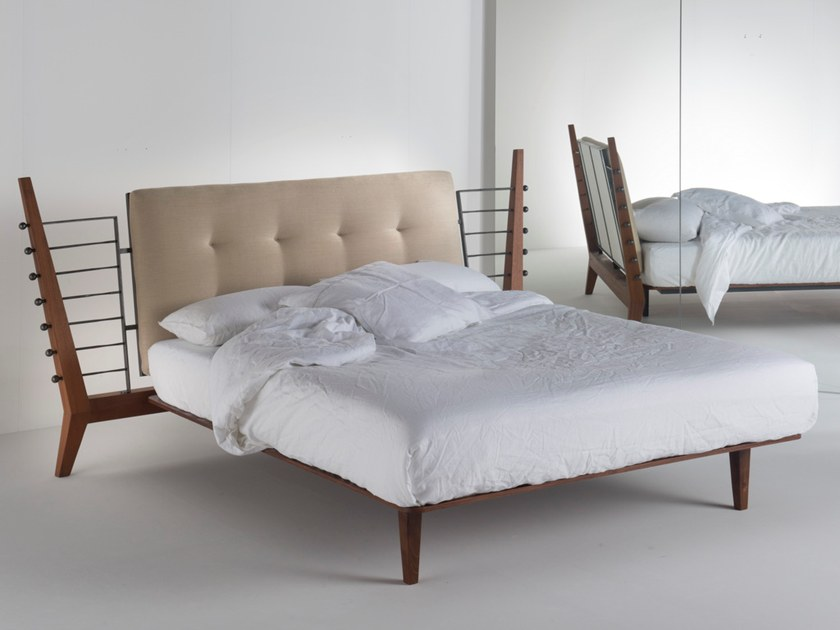 Double bed with upholstered headboard HERMES by Barel