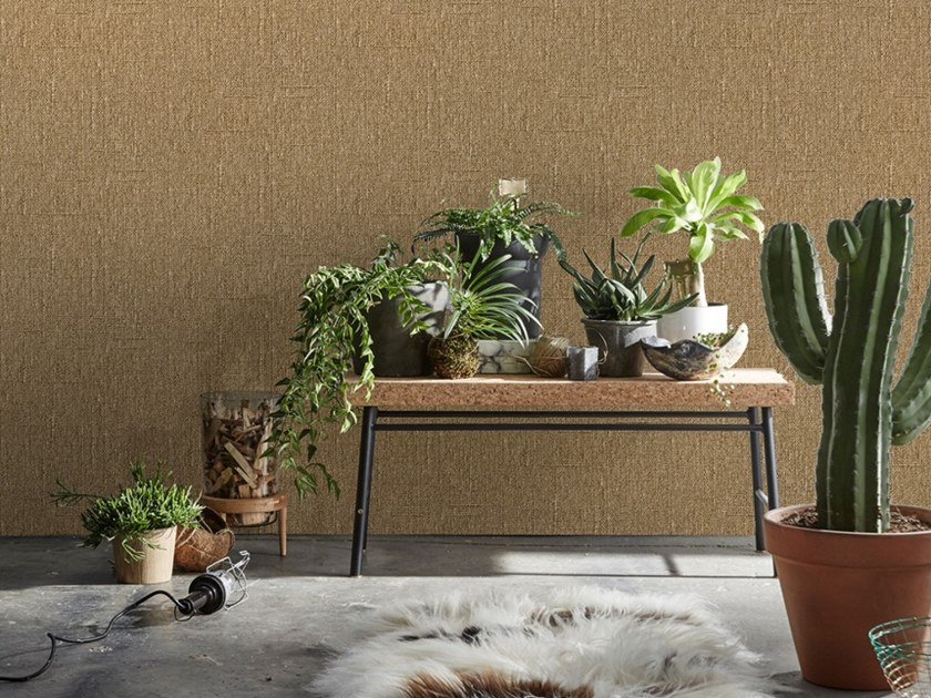 Wallpaper with textile effect HESSIAN by Koziel