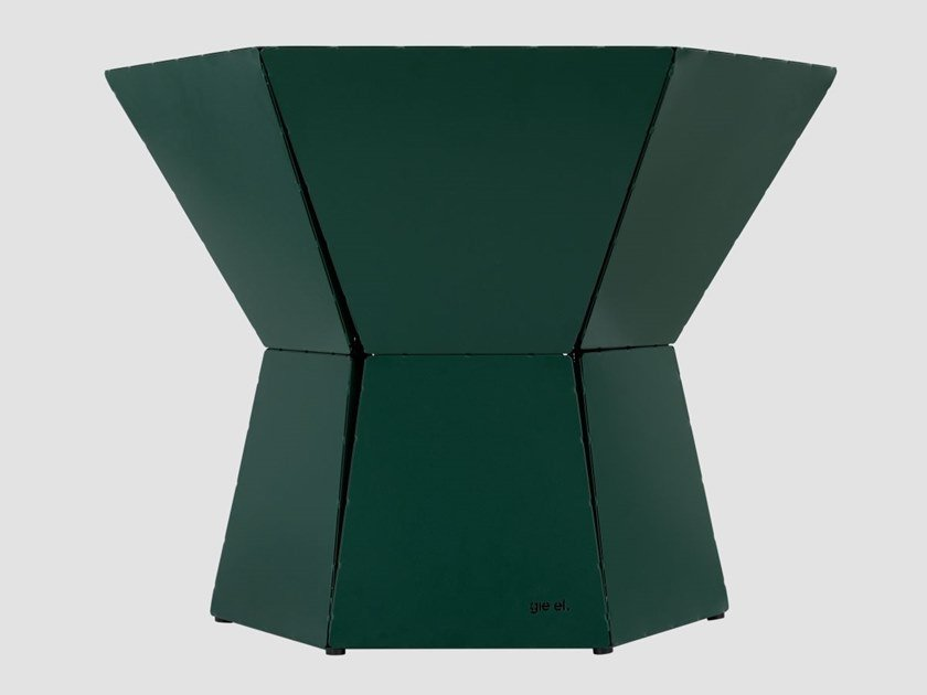 Hexagonal steel coffee table for living room HEXA III by Gie El Home