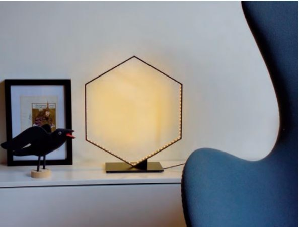 LED direct-indirect light powder coated steel table lamp HEXA | Table lamp by Le Deun Luminaires