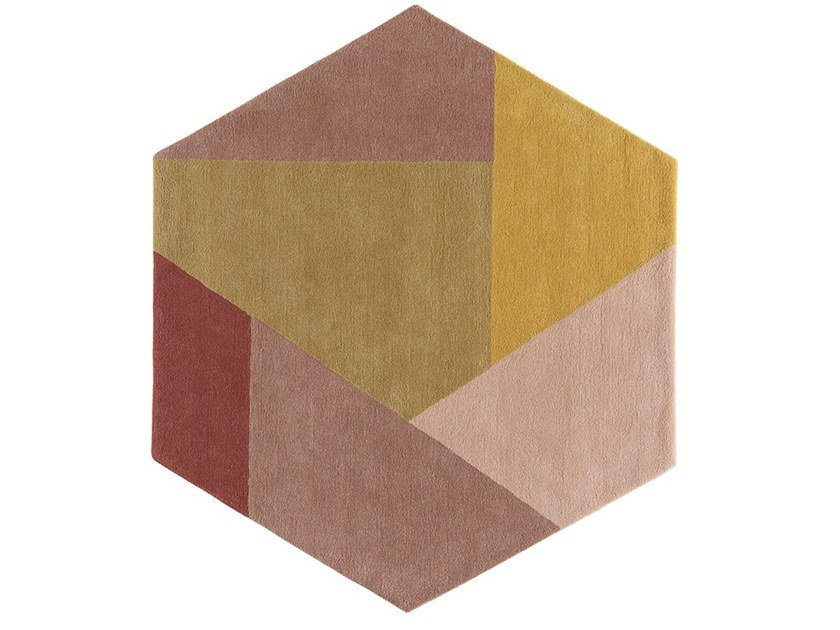 Patterned wool rug HEXA by Toulemonde Bochart