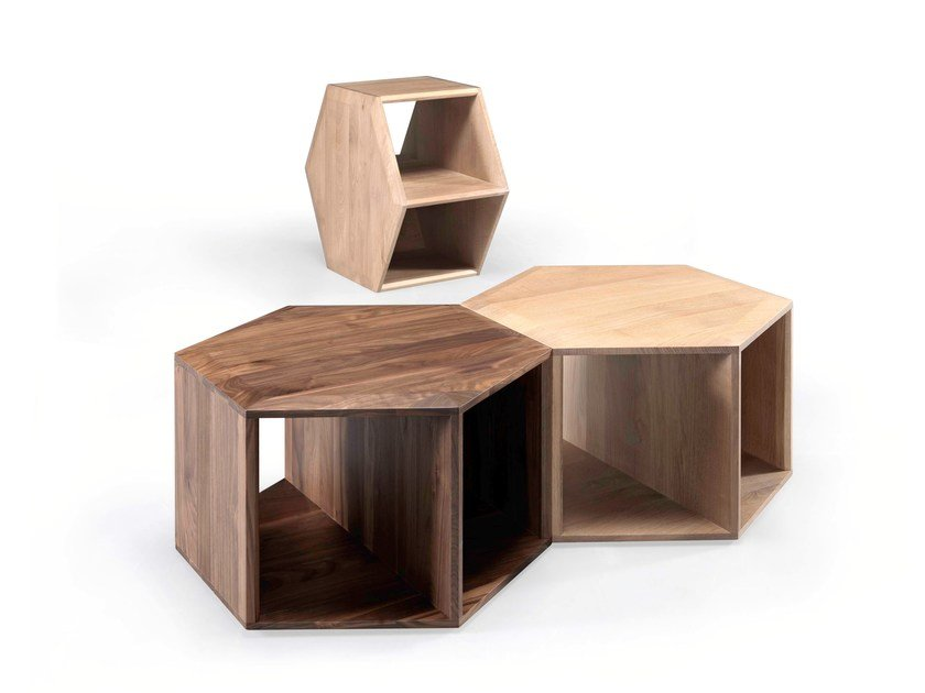 Solid wood coffee table / bedside table HEXA by Wewood