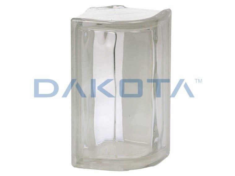 Blocco di vetro ONDULATO CHIARO ANGOLARE ESAGONALE by Dakota
