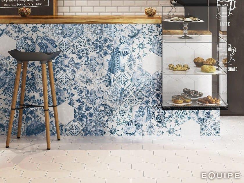 Indoor/outdoor porcelain stoneware wall/floor tiles HEXATILE by EQUIPE CERAMICAS