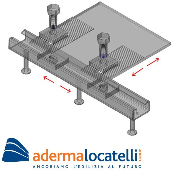Support and anchor for reinforced concrete structure HGP SMART ANCHOR by AdermaLocatelli