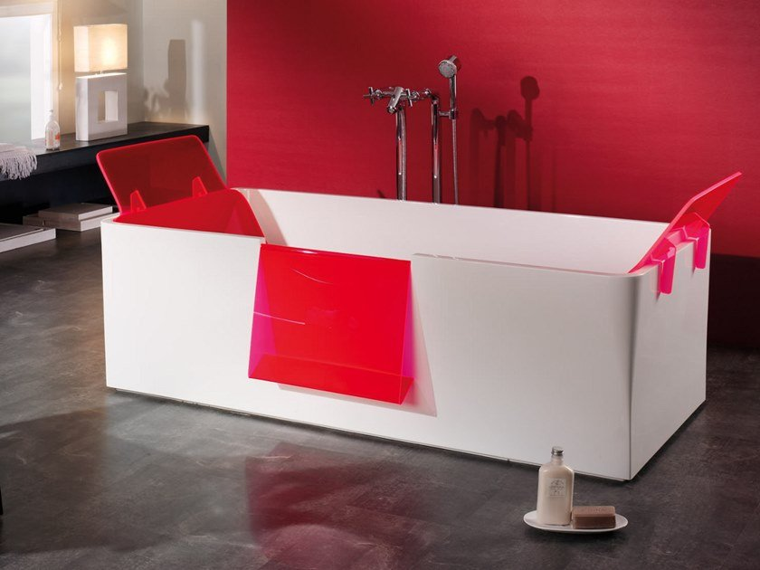 Freestanding rectangular bathtub HI-BATH by Aquadesign Studio