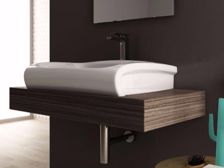 Rectangular ceramic washbasin HI-LINE | Countertop washbasin by Hidra Ceramica
