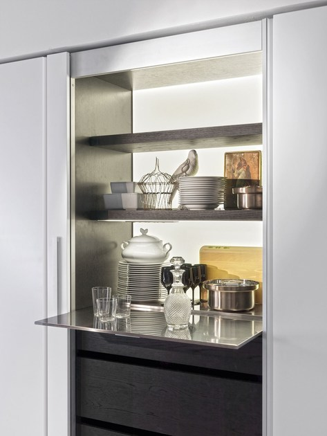 Kitchen with island without handles HI-LINE6 By DADA design ...