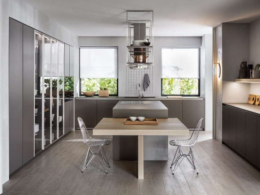 Kitchen with island without handles HI-LINE6 by DADA