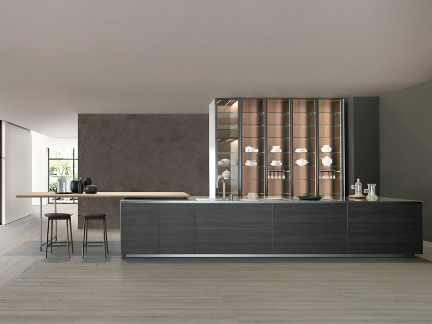 Fitted kitchen without handles HI-LINE6 FRAME DOOR by DADA