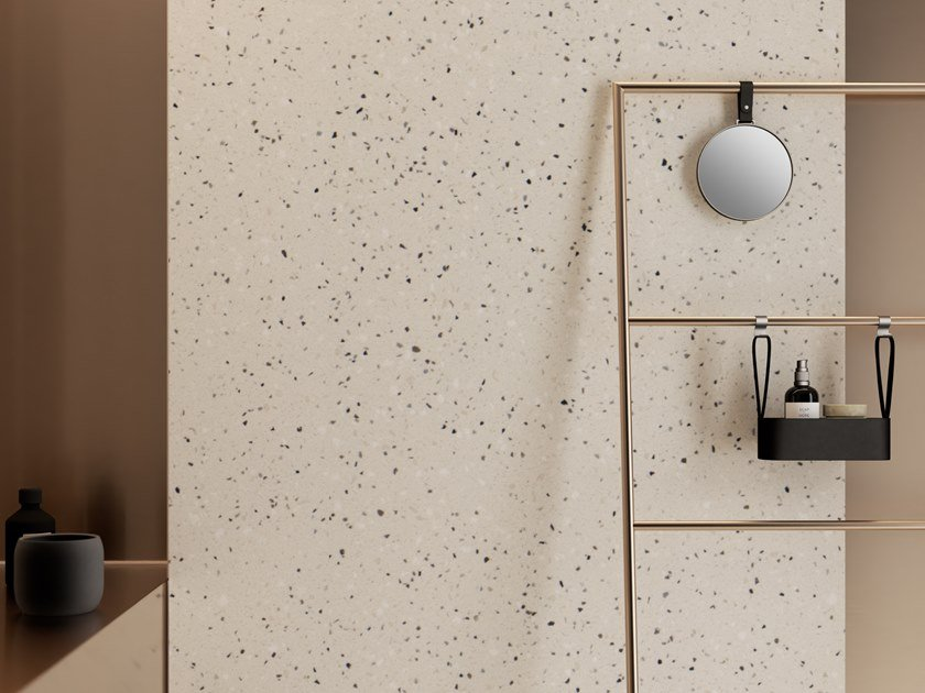 Superficie tridimensionale in Solid Surface HI-MACS® Terrazzo by HI-MACS