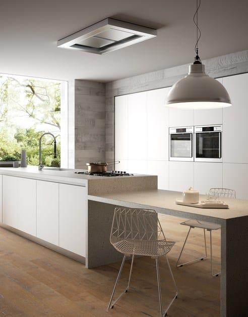 HI-MACS® per top cucina Photo credits :  LG Hausys' HI-MACS® - Studio Podrini;  HI-MACS® colour : Shadow Queen (Lucia collection);  HI-MACS® Sink used : CS528R