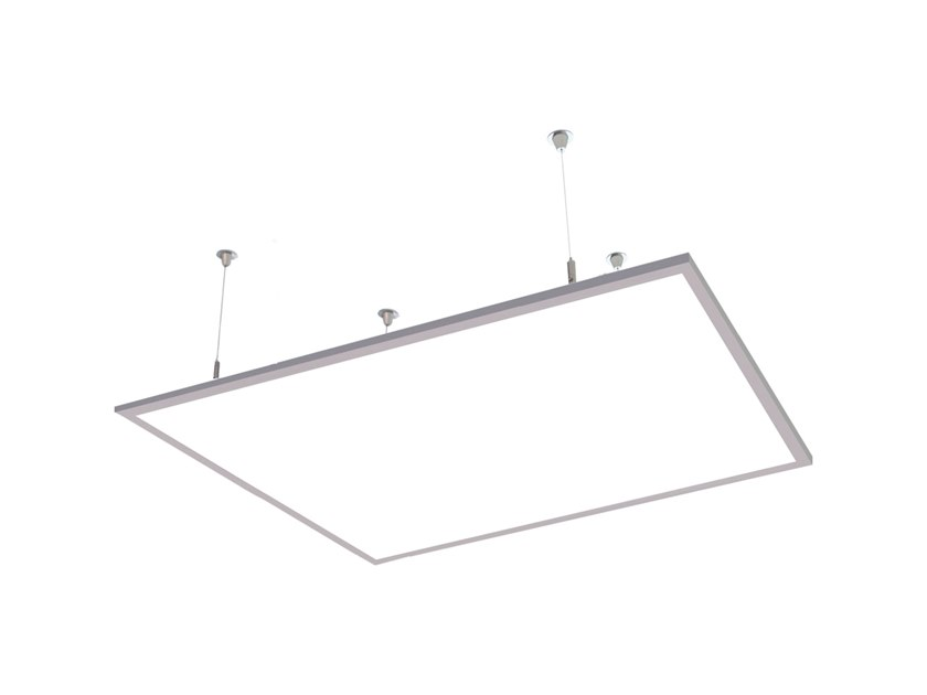 LED direct-indirect light aluminium pendant lamp HI PANEL D-I 9946 MP by Metalmek