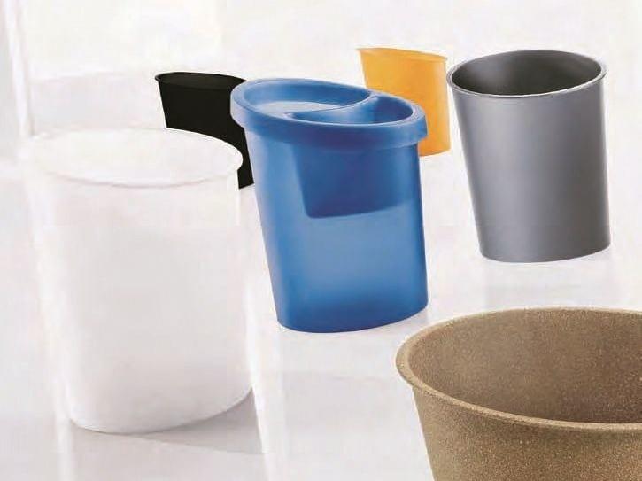 Polypropylene waste paper bin HI-TECH | Waste paper bin by Caimi Brevetti