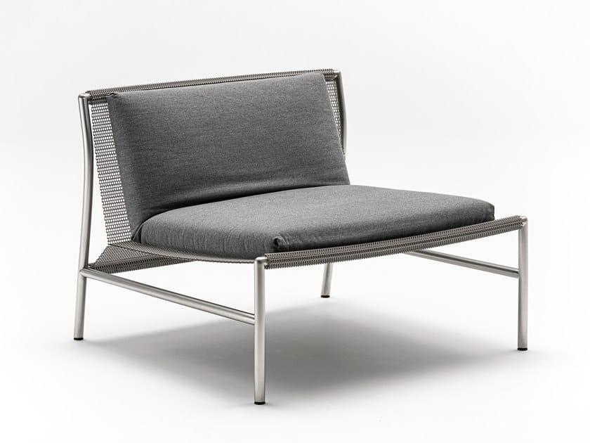 Wire mesh easy chair HI-TECH by Living Divani