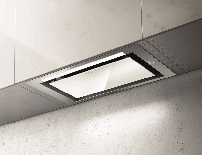 Built-in stainless steel cooker hood with integrated lighting HIDDEN HT by Elica