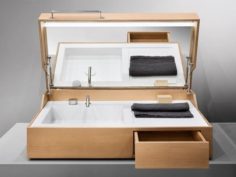 Vanity unit with drawers HIDDEN by MAKRO