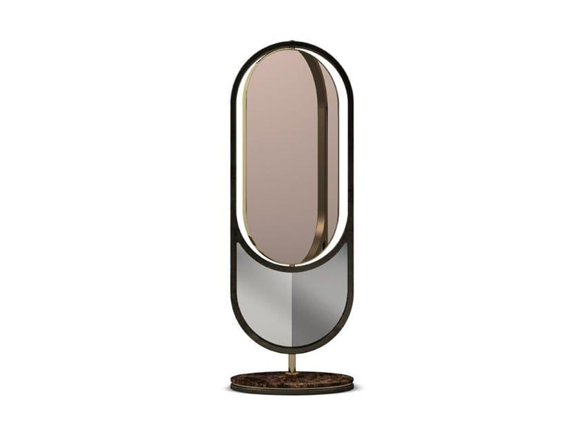 Freestanding framed mirror HIDDEN by Porustudio