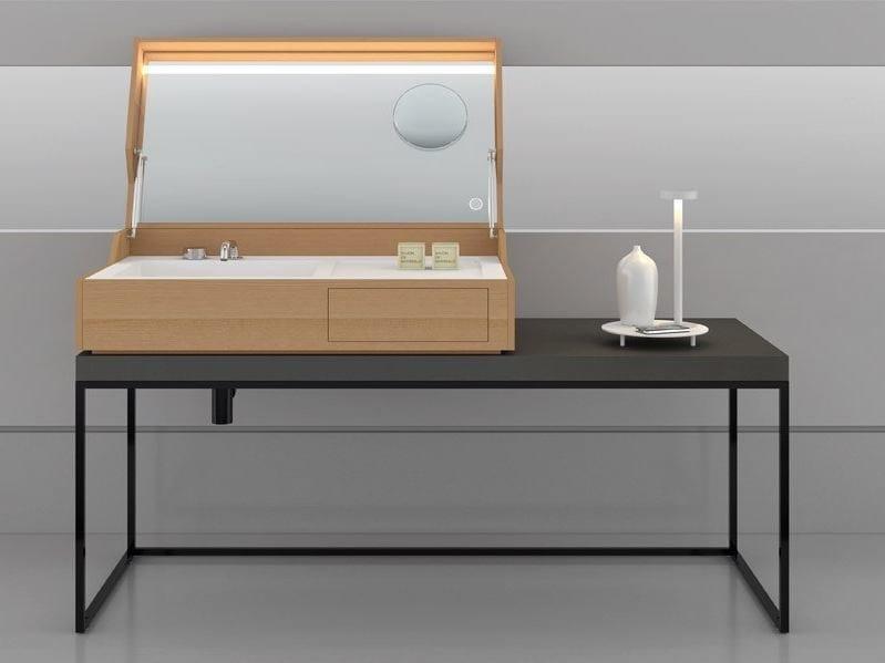 Metal console sink HIDDEN WIREFRAME by MAKRO