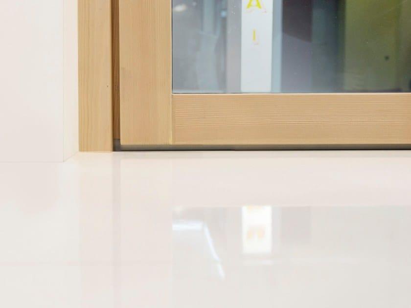 Porta finestra a taglio termico con anta a scomparsa in legno hidden wood by de carlo - Porta finestra in legno ...