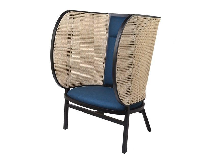 High-back beech armchair HIDEOUT LOUNGE CHAIR by Wiener GTV Design