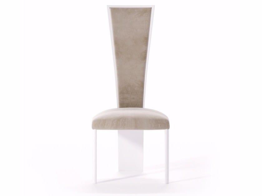 Sedie Schienale Alto Design : Sedia in pelle con schienale alto high chair sedia collezione