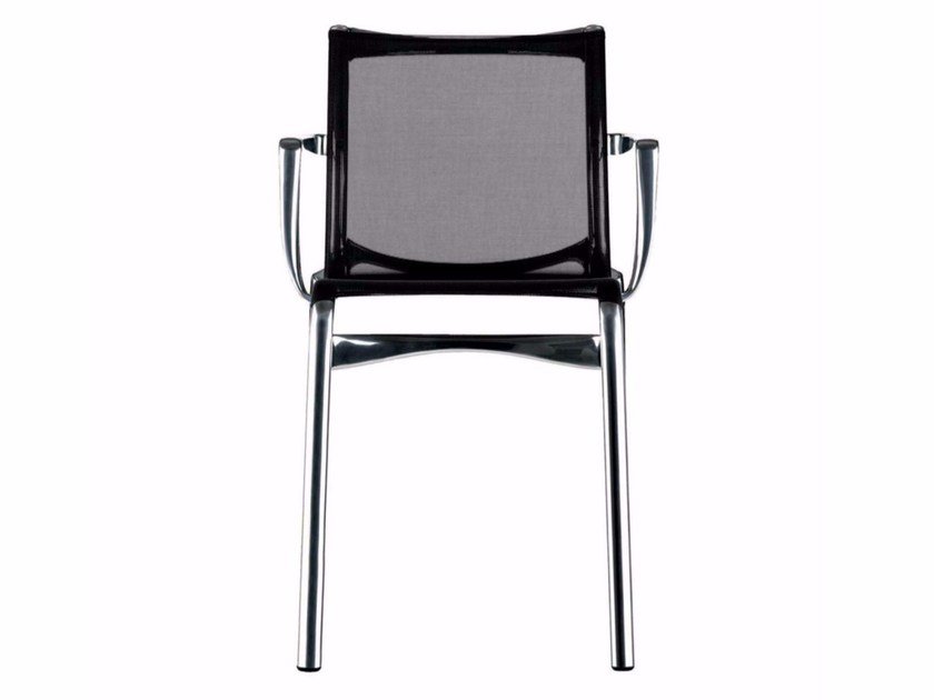 Stackable mesh chair with armrests HIGHFRAME - 417 by Alias