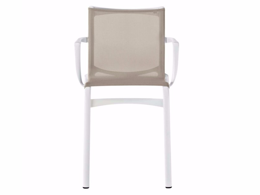 Stackable mesh chair with armrests HIGHFRAME - 417_O by Alias