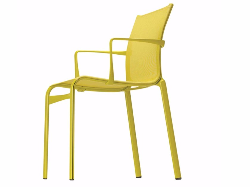 Stackable chair with armrests HIGHFRAME COLORS - 417_C by Alias