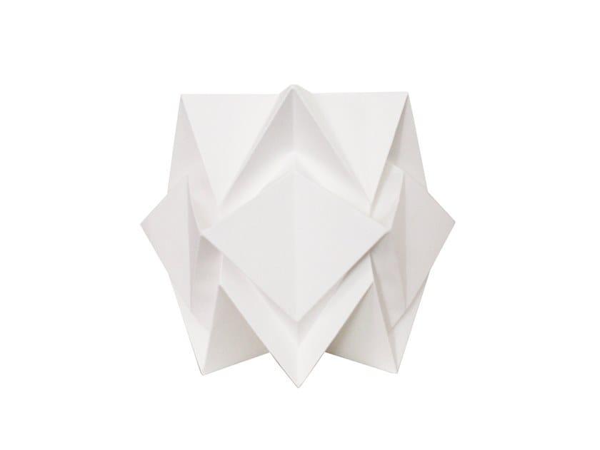 Handmade paper table lamp HIKARI by Tedzukuri Atelier