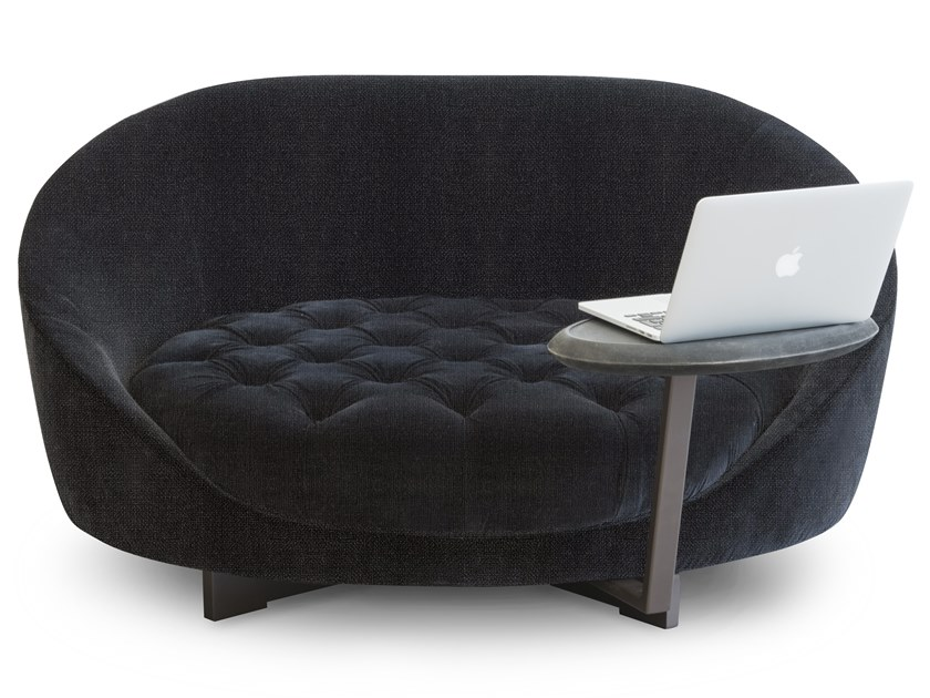 Tufted fabric small sofa HILL by ALBEDO