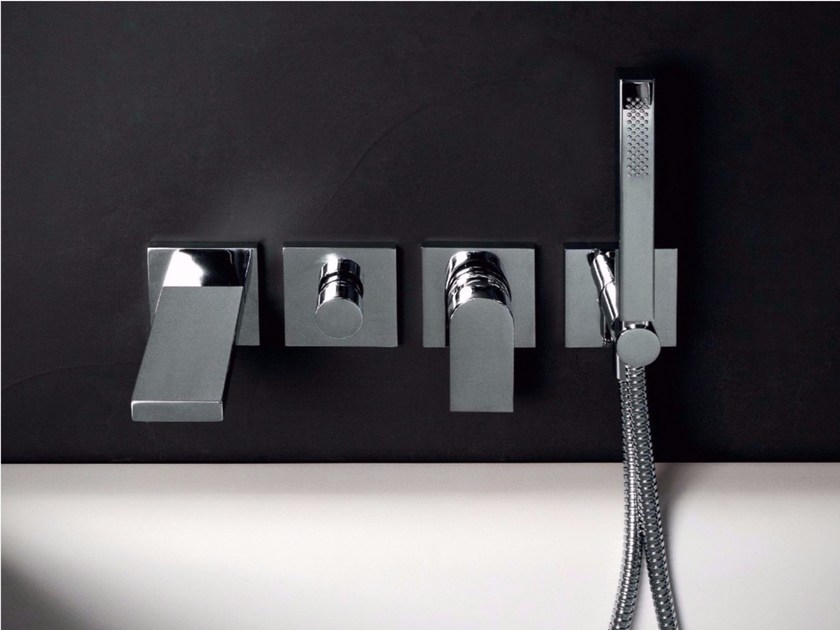 4 hole wall-mounted bathtub tap HIM | Bathtub tap by ZUCCHETTI
