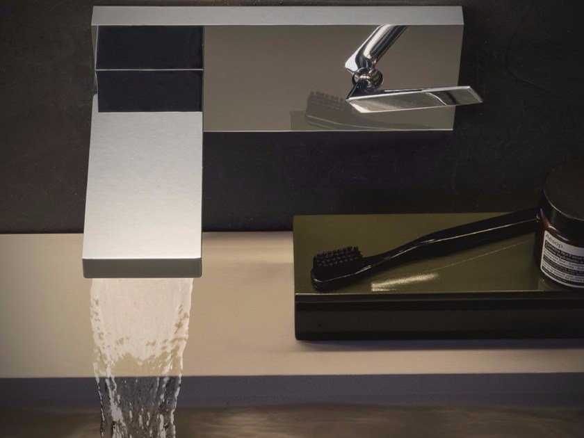 Wall-mounted washbasin mixer with plate HIM | Wall-mounted washbasin mixer by ZUCCHETTI