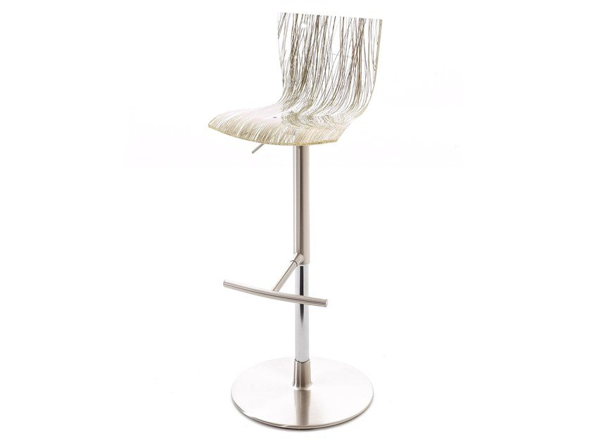 Swivel height-adjustable stool HIP.SS by Colico