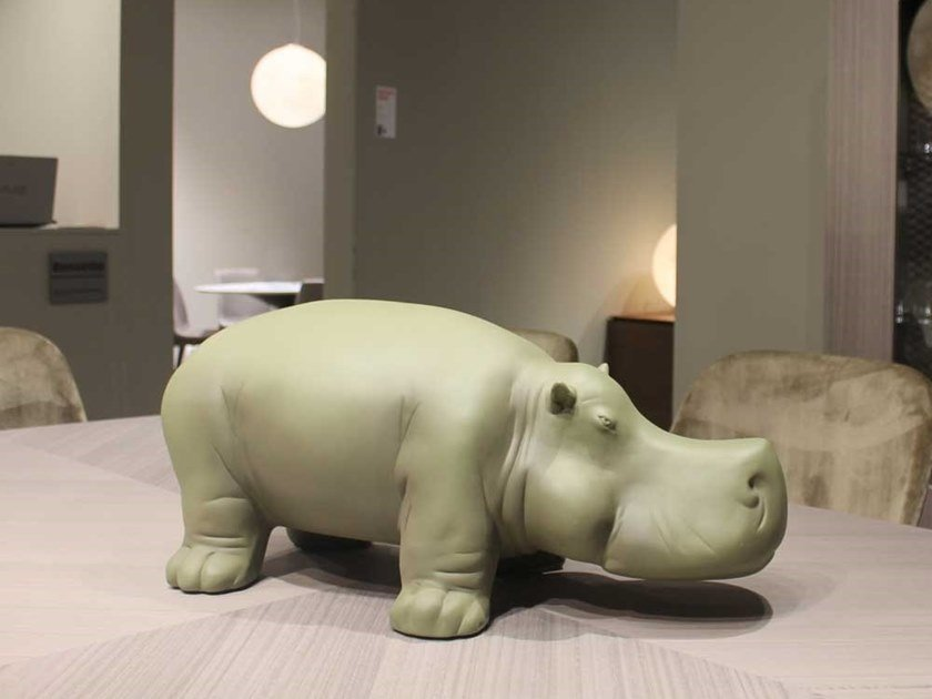 Ceramic sculpture HIPPO by Adriani e Rossi edizioni