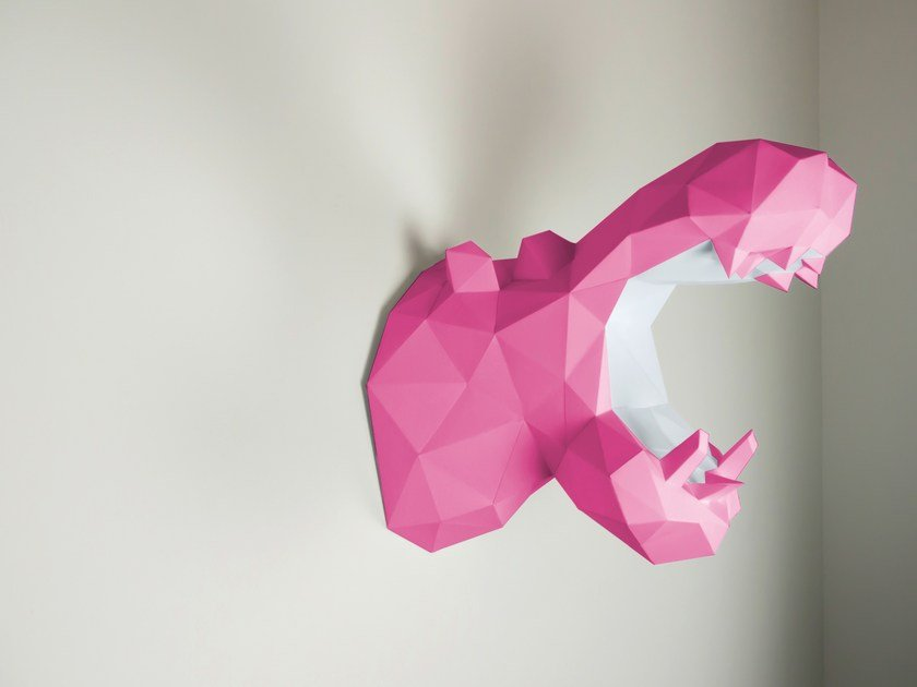 Paper wall decor item HIPPO By Papertrophy