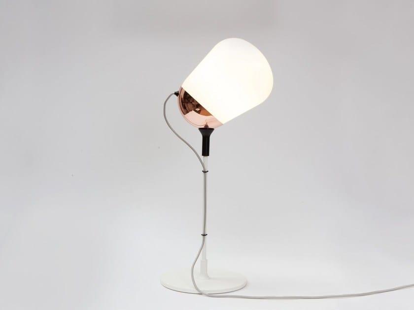 Fluorescent adjustable glass table lamp HIPPO | Table lamp by Vertigo Bird
