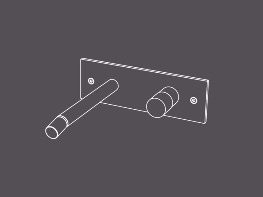 Miscelatore per bidet a muro monocomando in acciaio inox senza scarico HIR19 | Miscelatore per bidet a muro by Radomonte