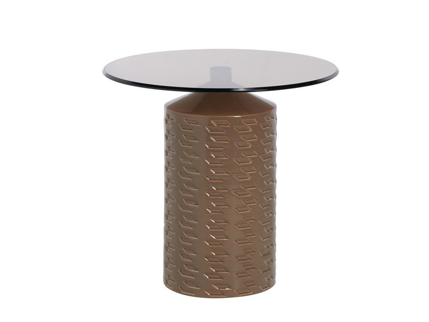 Round garden side table HISHI   Round coffee table by Potocco