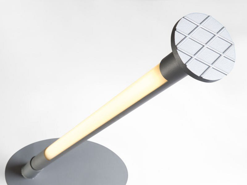 Fluorescent aluminium bollard light HIT-ME by Modular Lighting Instruments