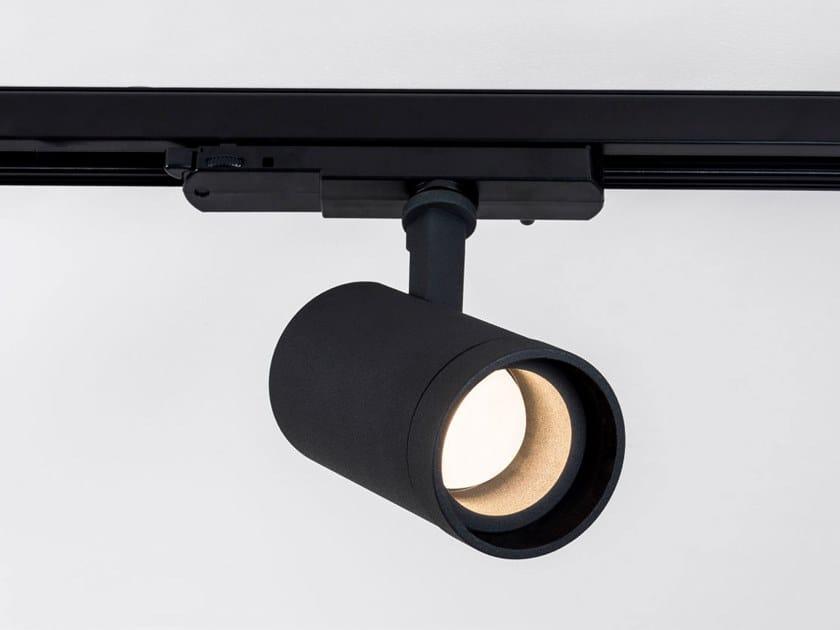 Illuminazione a binario a LED in alluminio verniciato a polvere HIT ZOOM XL by HER