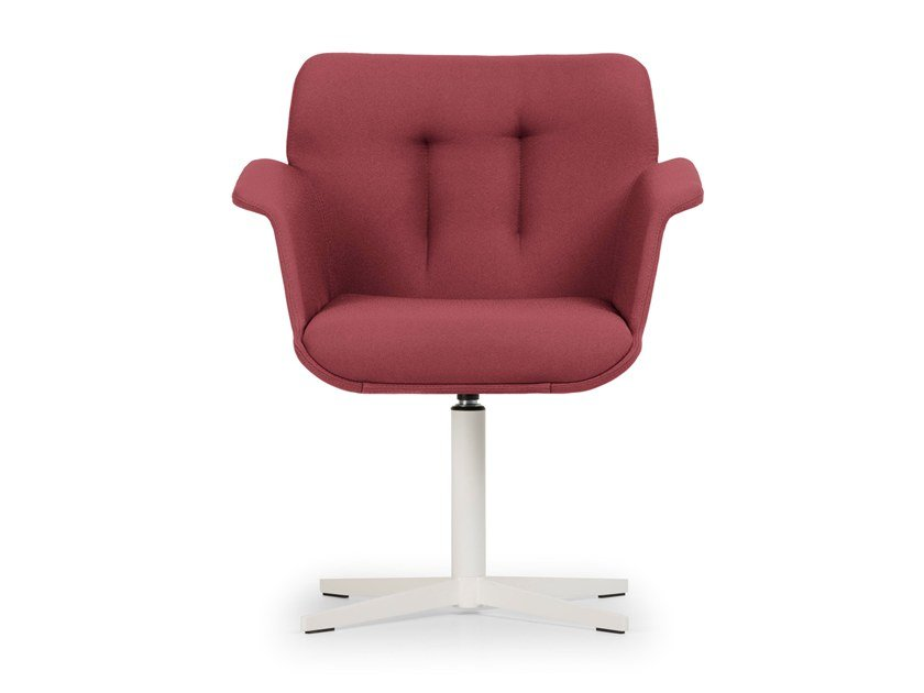 Swivel chair with 4-spoke base HIVE | Swivel chair by True Design