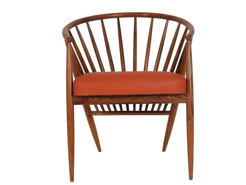 Teak chair with integrated cushion HLOMA | Teak chair by ALANKARAM