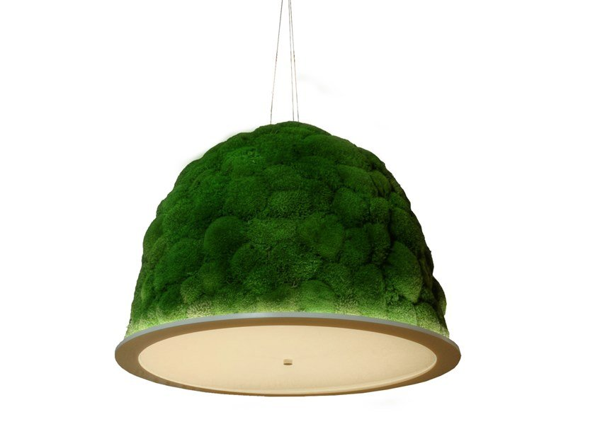 Pendant lamp with cushion moss HOBBIT by Freund GmbH