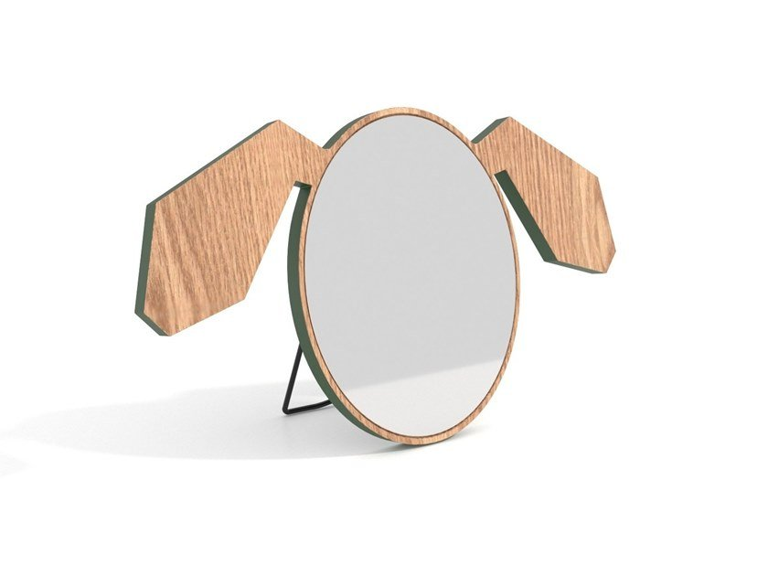 Framed wooden mirror HOCHU RAYU   BE MORE FUNNY by Archiproducts.com