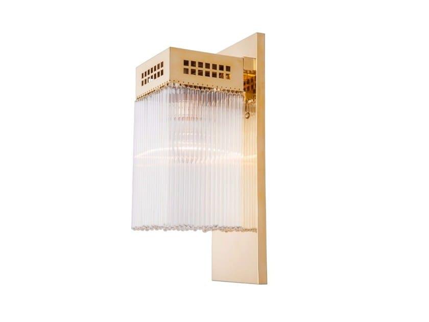 Direct light handmade brass wall lamp HOFFMANN V   Wall lamp by Patinas Lighting