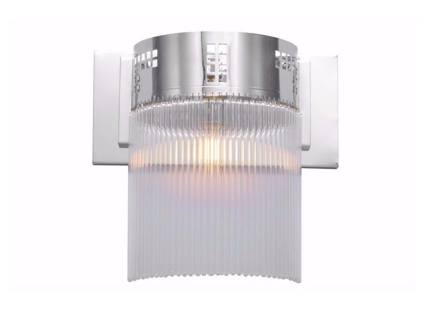 Lampada da parete a luce diretta fatta a mano in nichel HOFFMANN VII   Lampada da parete by Patinas Lighting