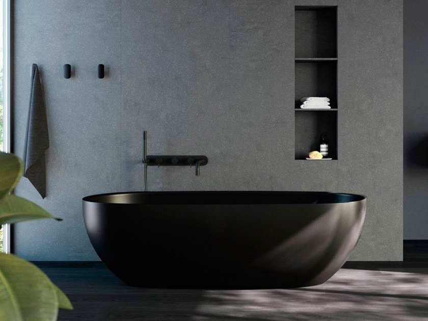 Freestanding oval bathtub HOLE | Bathtub by Rexa Design